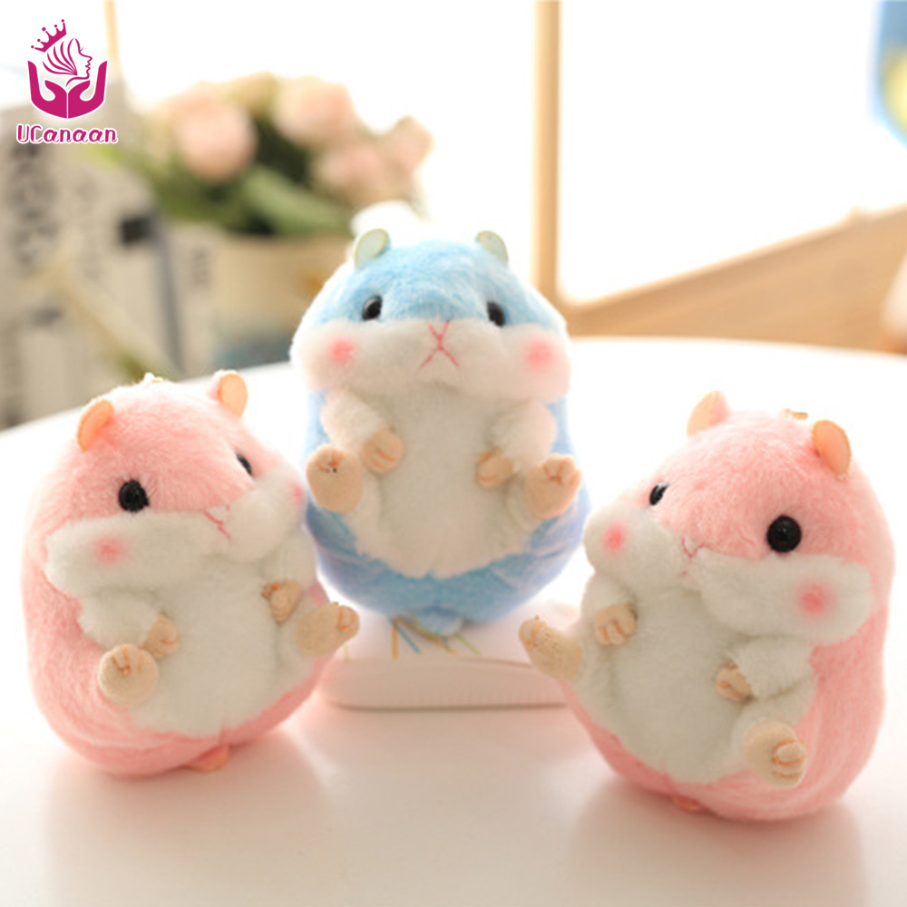 UCanaan Soft Stuffed Toys for Children Kawaii Plush Small Hamster Dolls Best Gift for Girl Bag Charm Keychain Pendant велосипед stark tanuki 14 boy 2017