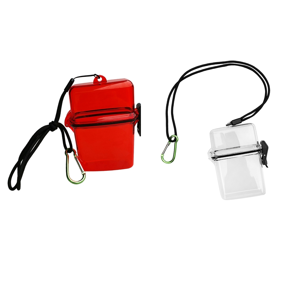 Waterproof Dry Box Container Case Carabiner Hook For Scuba Diving Snorkeling Kayaking Surfing Boating Floating Storage Case