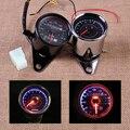 Motorcycle LED Odometer Speedometer Gauge with Indicator Light Reset Switch For Honda Yamaha Suzuki Bobber Kawasaki Choppers KTM