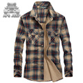 Plus Size M-5XL Men Shirt Loose Big Casual 100% Cotton Breathable Soft 2016 british style long sleeve Plaid hawaiian Shirts male