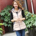 2017 autumn and winter medium-long women's thickening vest slim down cotton thermal waistcoat a