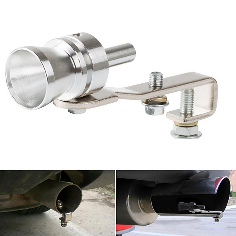 L TY Turbo Whistle Sound Motorbike Exhaust Muffler Auto Pipe Simulator Universal