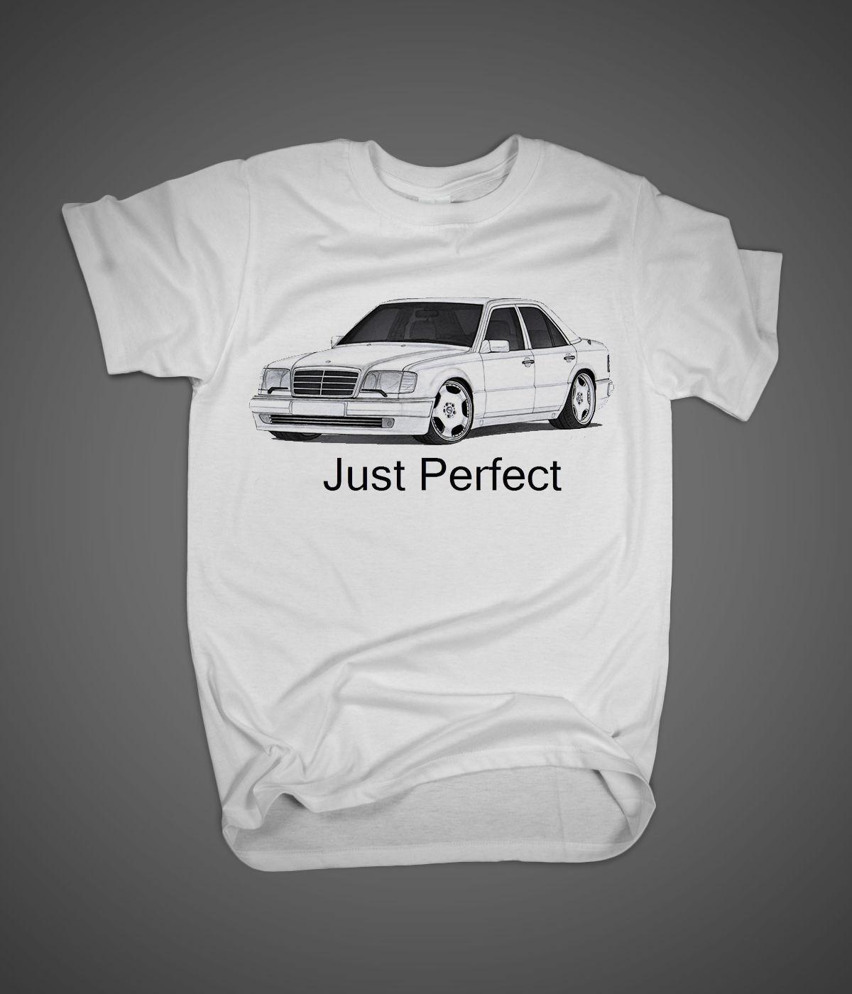 T Shirts Fashion 2019 Crew Neck Men Short-Sleeve New Germany Car 500E M119 Engine W124 381Bhp Evo-Ii Best Car Printing Shirt