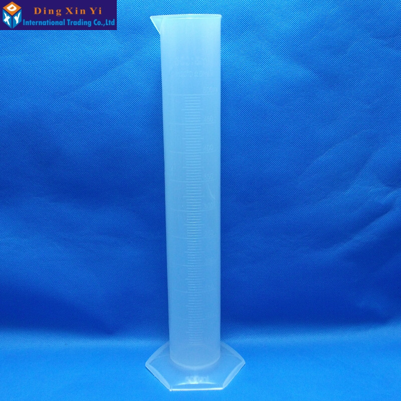 500ML Plastic Measuring Cylinder Graduated Cylinder for Lab Supplies New Laboratory Cylinder
