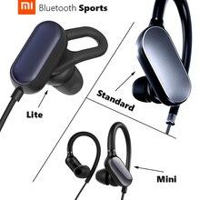 Xiaomi mi sports fone de ouvido original, lite, padrão, mini, sem fio, bluetooth 4.1, à prova d água ipx4, antiqueda, longo tempo jogar jogar
