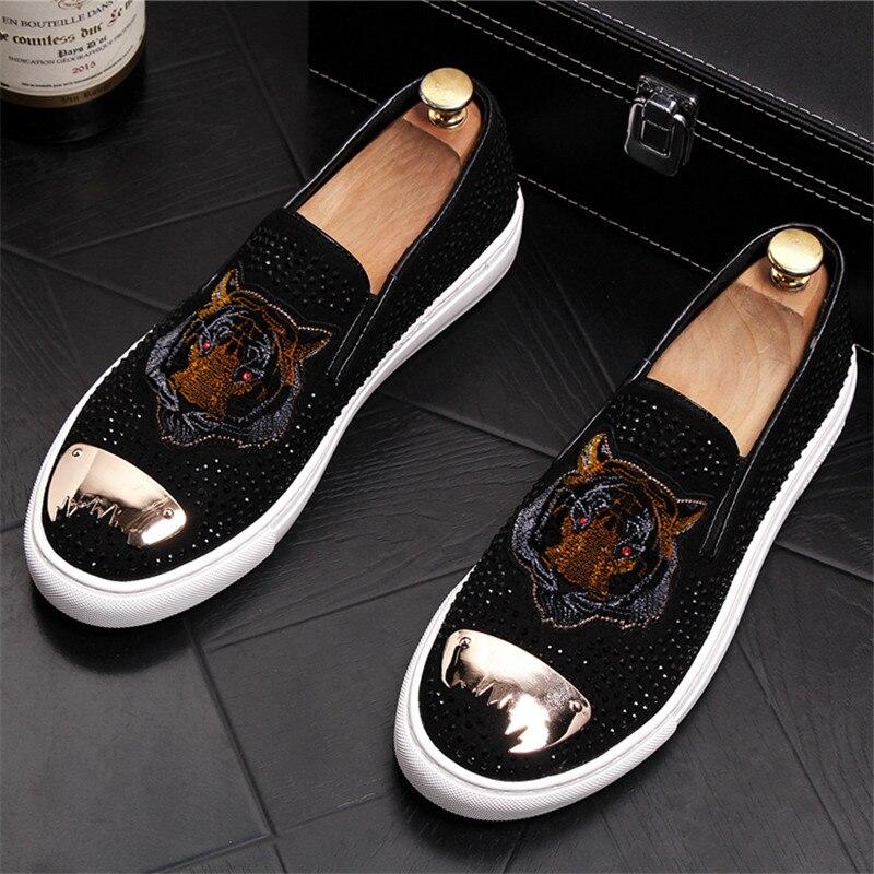 Homme Hommes Élégant Appartements b De Soirée d Luxe 20d50 Mocassins Bling A c Chaussures Slip Sur e Pour Glitters jL35AScRq4