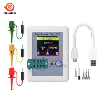 LCR-TC1 160*128 TFT LCD Display A Colori Grafico PNP NPN Transistor Tester Multimetro Diodo Triodo di Capacità Tester di Resistenza di prova