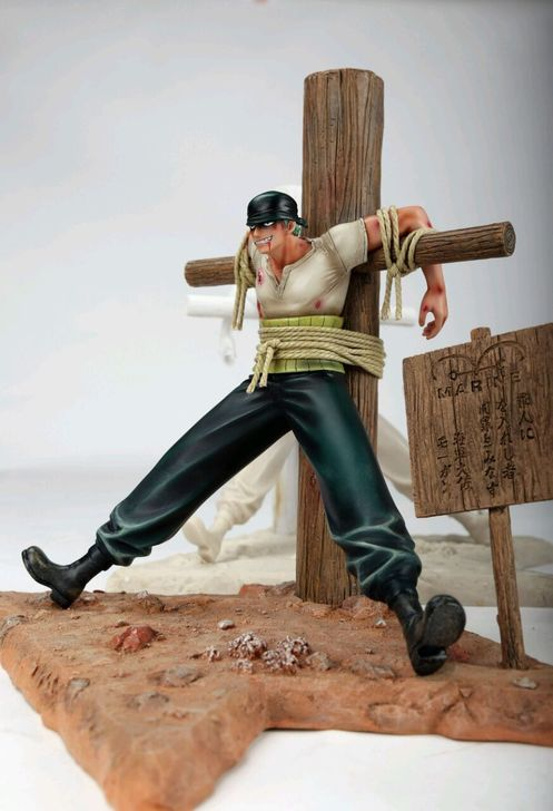 MODEL FANS One Piece 30cm Roronoa Zoro Debuted cross gk resin figure toy for Collection Handicrafts