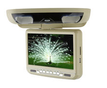 9inch car roof monitor dvd player with USB/SD/IR/FM/wireless game 180 degree rotatable screen built in speakers