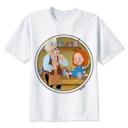 Chucky T Shirt mężczyźni wysokiej jakości fajne Streetwear mężczyźni T-shirt na co dzień Horror Tshirt Chucky drukuj O-Neck mężczyzna odzież 5