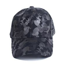 Men Women Baseball Hat Adult Outdoor Artificial PU Leather Casual Style Round Top Snapback Cap Sportswear Adjustable