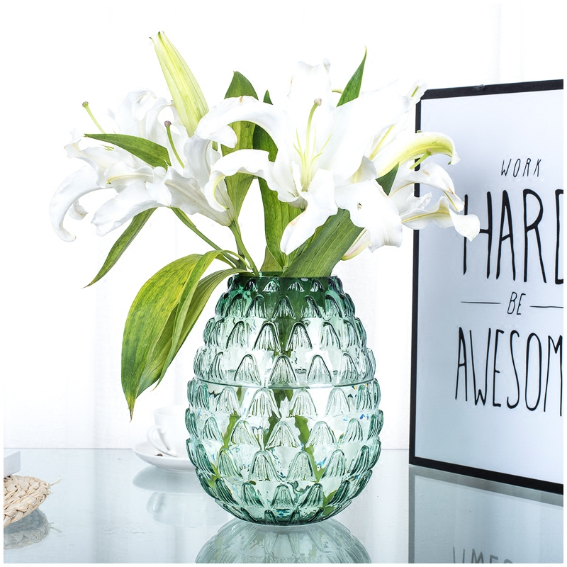 Creative glass vase Lotus-pattern stained terrarium containers Small flower vases for homes decoration wedding decorativos