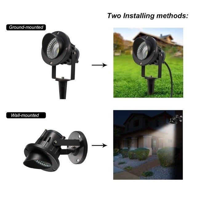 12V/220V Outdoor Garden Lamp LED Lawn Light 3W 5W 10W COB LED Spike Lamp Waterproof IP65 Pond Path Landscape Spot Lights Bulbs