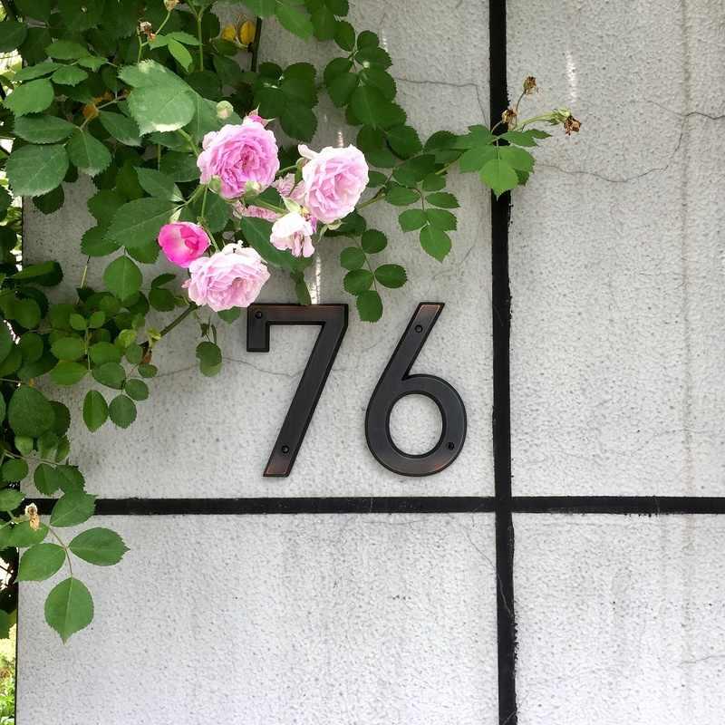 Состаренная бронза 152 мм очень большой дом номер двери цифра дл обозначения номера дома или квартиры крепление из цинкового сплава установлен открытый адрес знак #0-9