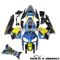 Motorcycle ABS Injection Plastic Fairing Kit For Honda CBR600RR 2005 2006 Shark Eyes Decals Fairings Bodywork BLUE