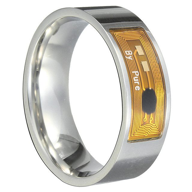 Stylish Innovative Multifunction Water-Resistant Metal Smart Ring