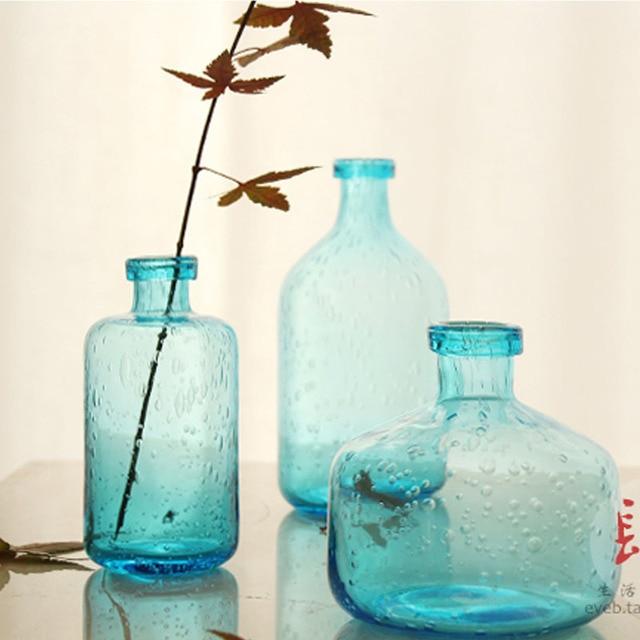 Handmade Glass Bubble Glass Vase Handmade Crafts Art Fan Zakka Vase