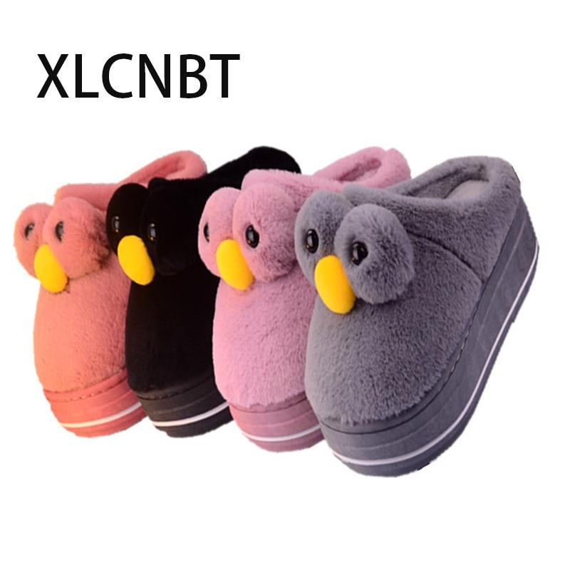 cute slipper platform women winter slipper big eyes adorable bunny rabbit slippers waterproof non-slip indoor home slippers
