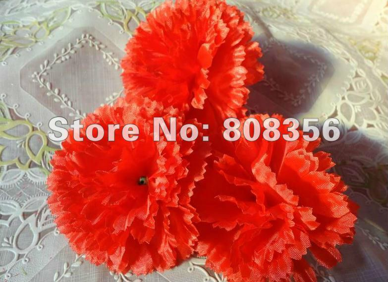 "50p Elegant Simulation Artificial Carnation Flower Heads 3.54"" for Mother's Day Christmas Party Home Decorations"