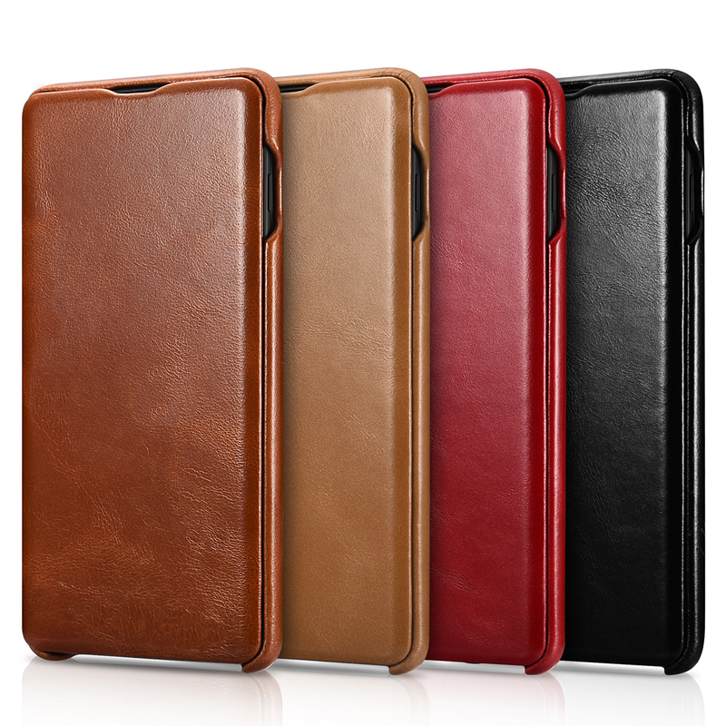 Image 2 - icarer Luxury Shell for Samsung Galaxy S10 Plus Flip Case Genuine Leather Magnetic Covers for Galaxy S10 Cell Phone Cases-in Flip Cases from Cellphones & Telecommunications