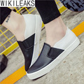 Wikileaks New Fashion Women Casual Solid Breathable PU Shoes Woman Flat With Heavy Bottom Lower-Cut Student Shoes Zapatos Mujer