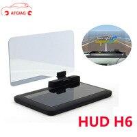 ATDIAG HUD Exibição Navegador GPS Do Carro H6 MountUniversal Smartphone Projetor HUD Head Up dis-play para OBDII Carro