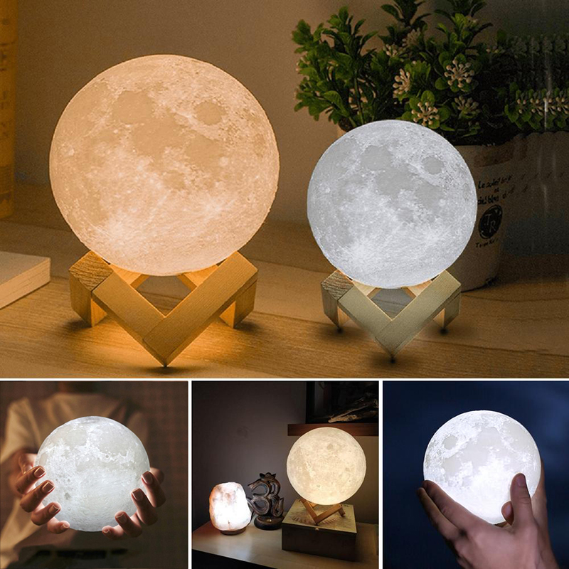Moon Light For Bedroom: Aliexpress.com : Buy Rechargeable USB 3D Print Moon Lamp 2