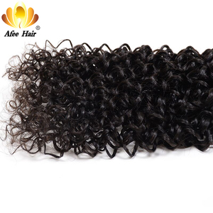 Image 5 - Aliafee Hair Kinky Curly Hair Bundles With Closure Non Remy Hair Weave Malaysia Kinky Curly 3 Bundles Deal With Closure