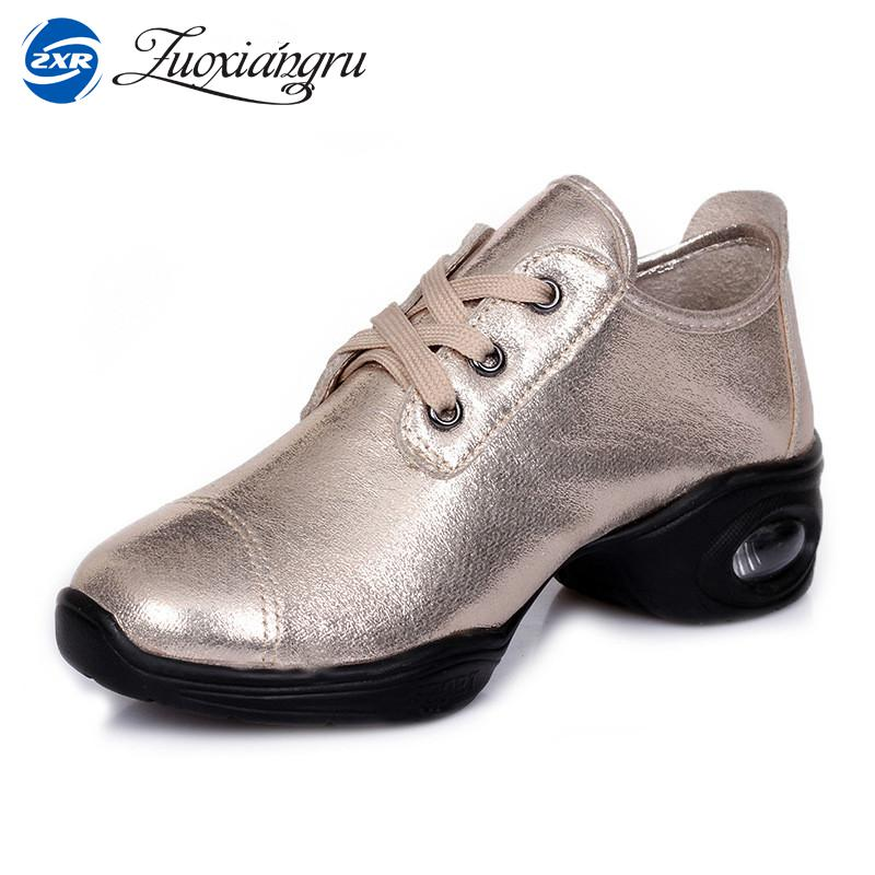 Zuoxiangru Professional Women Dance Shoes Sneakers Ladies Leather Square Line Dance Shoes White Black Modern Jazz Dance Shoes latin canvas dance women shoes female adult social modern shoes with leather soft soled shoes women square dance shoes