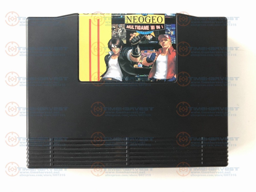 Free shipping Super Neo Geo 161 in 1 Cartridge NEOGEO multi games 161 in 1 AES version arcade game card for AES Family Console image