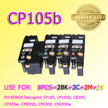 wholesale 8pcs CP105 toner CP205 toner compatible for XEROX-Docuprint CP105b,CP205w, CM205b, CM205f, CM205fw