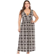 New Fashion women sexy Low collar V-Neck sleeveless Ankle-length Snake print casual plus size Beach dress 5XL цены