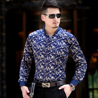 2015 Autumn Men Shirts Long-Sleeve Shirts Camisas Full Sleeve Male Slim Casual Clothes Men's Dress Shirt Free Shipping