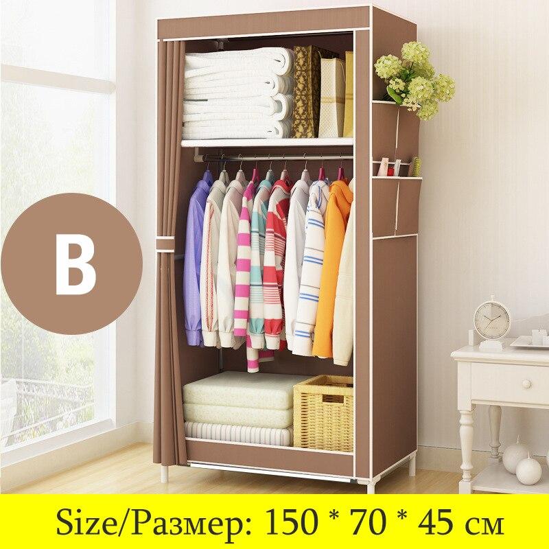 Cabinet:  On Sale Cheapest Small Wardrobe Single Cloth Wardrobe Folding Portable Closet Clothing Storage Cabinet Home Furniture - Martin's & Co