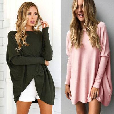 Women Casual Long Sleeve Top Blouse Hoodies Sweatshirt Tops Shirt Dress Pullover Ladies Womens Warm Casual Tops Women's Clothing
