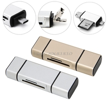 3 в 1 OTG Micro Тип USB-C флэш-накопитель разъем адаптера TF SD Card Reader # R179T # падения Доставка