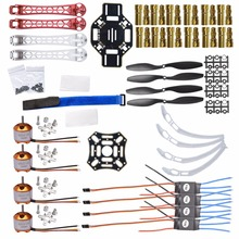 A2212 1000KV Brushless Outrunner Motor+F450 Frame +Gold Bullet Connector+30A ESC+1045 Propeller + for RC Aircraft Multicopter