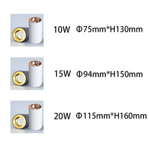 Image 3 - Opzichtige Led Plafondlamp Geen Opening Spotlight Dimbare 20W 15W 10W 5W Surface Mount Lampen Voor keuken, badkamer, Studie