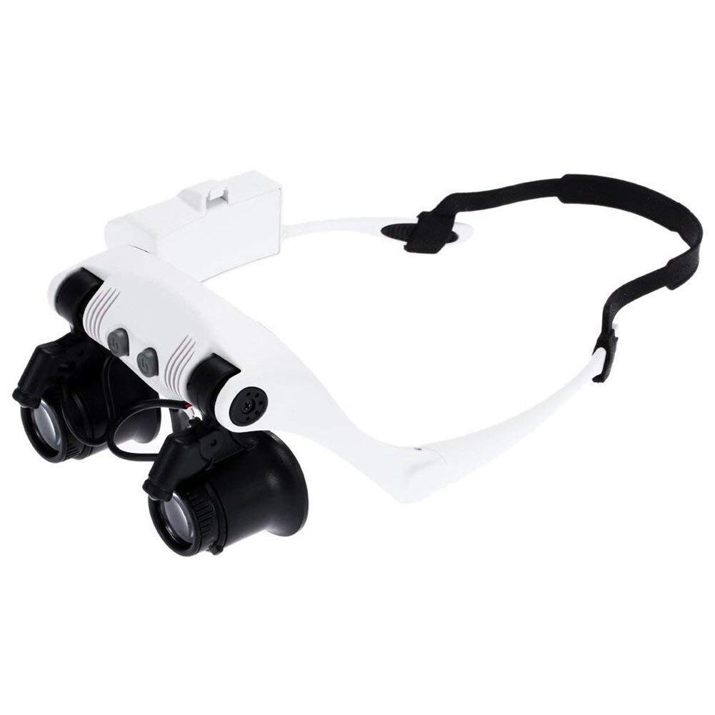 10x 15x 20x 25x gafas de sol de aumento con 2 luces LED lupa relojero joyero lupa de reparación de Dropship