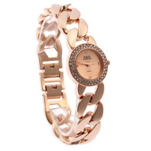 цены на XG59 New Fashion Women's Wrist Watch Analog Quartz Watches Stainless Steel Bracelet  Rose Gold  в интернет-магазинах