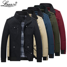 LOMAIYI Men s Spring Autumn Jacket Men Pure Cotton Red Black Casual Jacket Mens Bomber Jackets