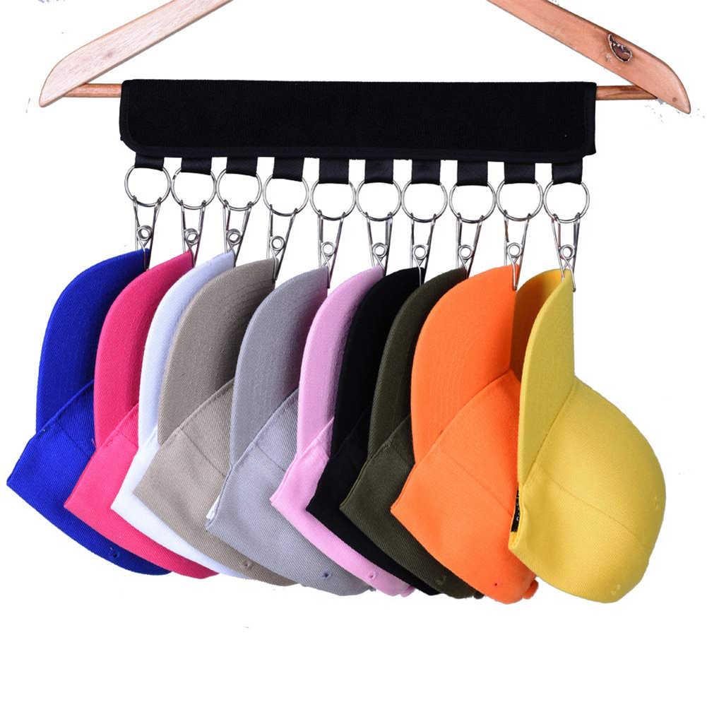 旅行ポータブル野球キャップケーブルオーガナイザーハンガー帽子クリップクローゼット洋服ホルダーキャップラッククローゼットハンガー靴下収納フックホルダー