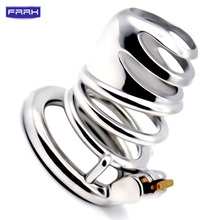 FRRK 304 Stainless Steel Bird Cock Cage Lock Adult Game Metal Male Chastity Belt Device Penis Ring Sex Toys cock cage For Men stainless steel small male chastity belt adult cock cage with arc shaped cock ring sex toys for men chastity device