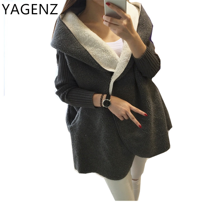 2018 Winter Women Jacket Warm Hooded Student Coat Casual Fashion Loose Velvet Thick Long sleeve Lady Overcoat Medium long Jacket 2017 winter classic fashion fur hoodie coat jacket women thick warm long sleeve cotton coats student medium long loose overcoat
