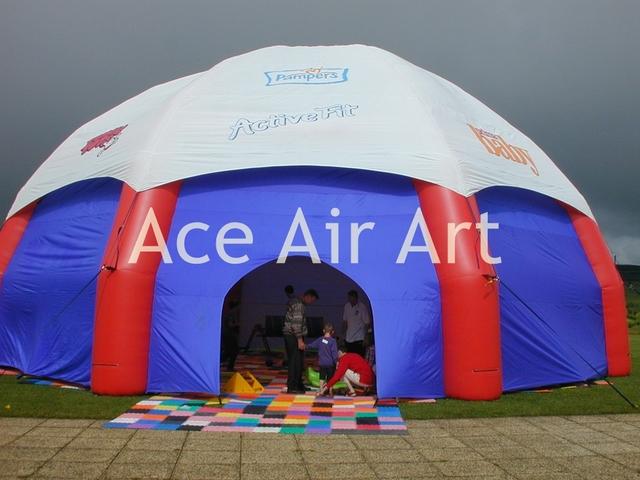 Cobertura completa pano gigante duplo inflável cúpula tenda para o abrigo com o logotipo