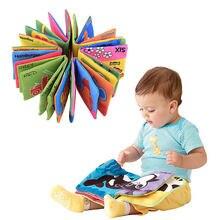 Venda quente 5 estilos novo bebê aprendizagem precoce inteligência desenvolvimento pano cognize tecido livro brinquedos educativos presentes #81842