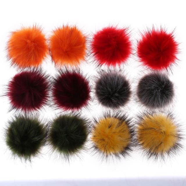8 centímetros Artificial guaxinim pompom colorido bola Fofo chaveiro pingente botões Personalizáveis ou borracha bandsKc95185
