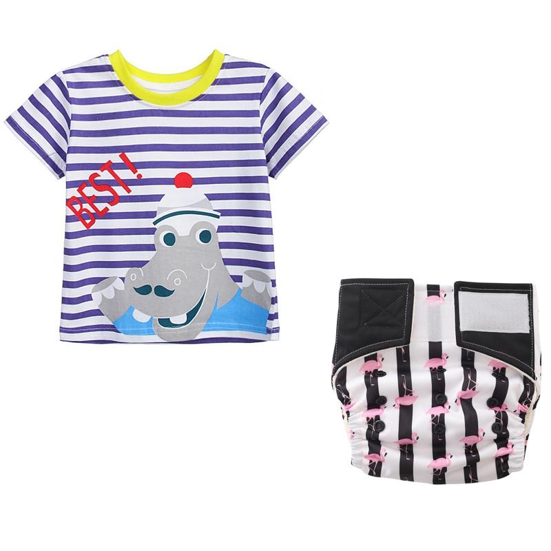 Neugeborenen Top Junge Baby Shirt + Baby Tuch Windeln Aio Trocken Bleiben (18 Monat/24 Monat)