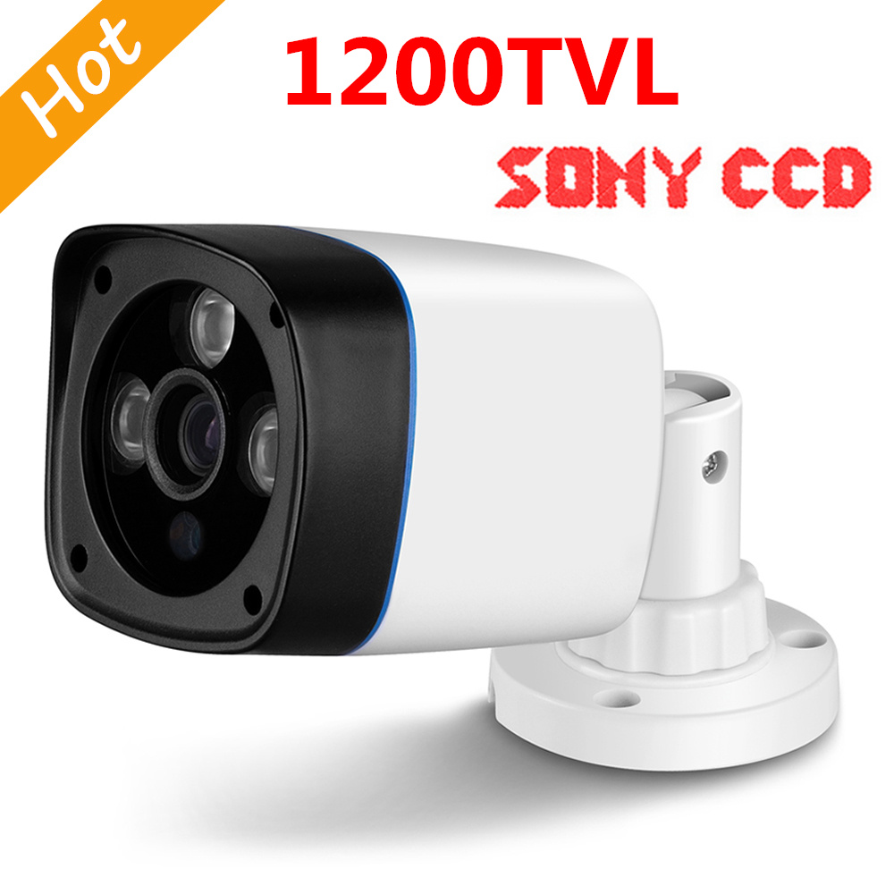 FreeShip New Video Surveillance Security CCTV IR Bullet Camera 1200 tvl 3 IR leds CCTV Camera ir-cut indoor/outdoor Sony CCD mini bullet cvbs ccd camera 700tvl with headset mount for mobile surveillance security video 5v