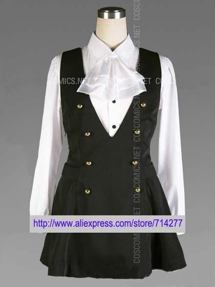 Free shipping Custom Cheap School Girl Uniform from Inu x Boku SS Cosplay costume